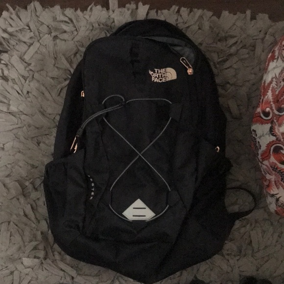 ec1d0cf27 Northface Backpack with rose gold accents